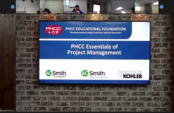 Sponsors for the Essentials of Project Management Class, Nov. 2020